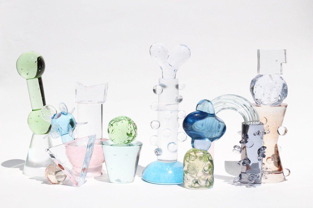 Glass sculptures by Japanese artist Baku Takahashi