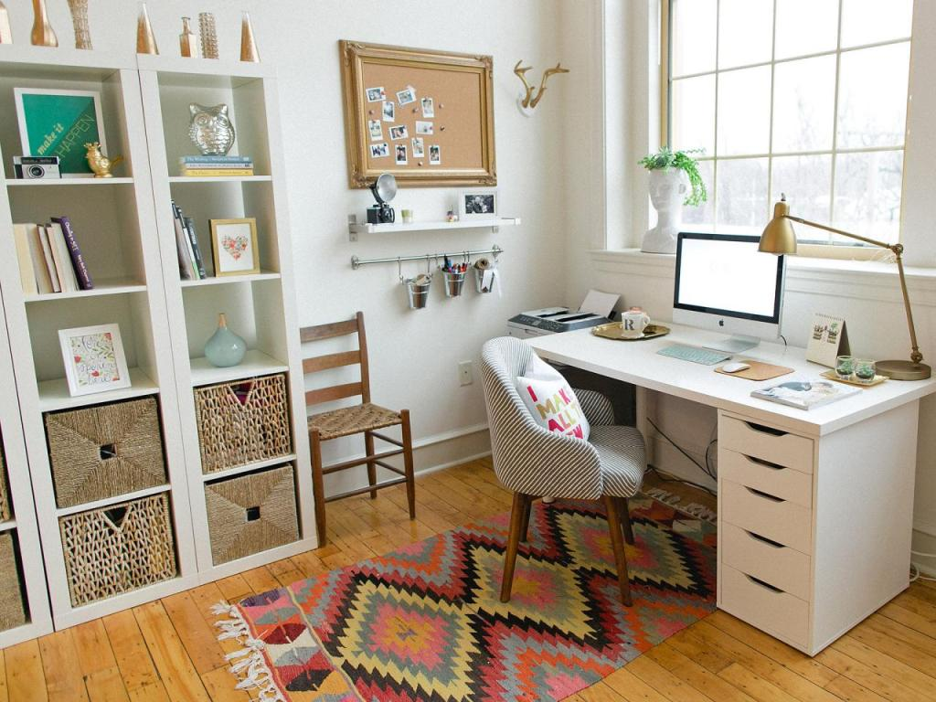 A chic home office interior