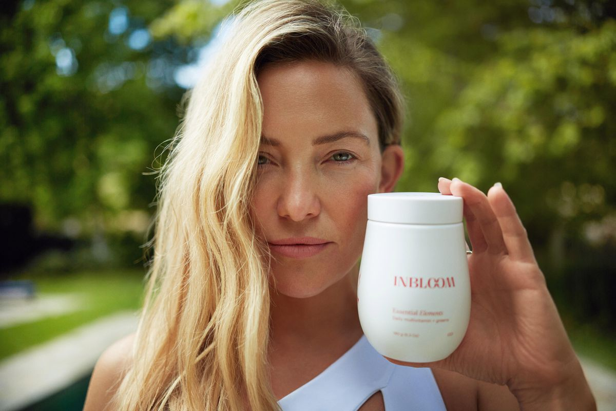 Kate Hudson In a Promotional Image for Her New Beauty Supplement Brand – inBloom