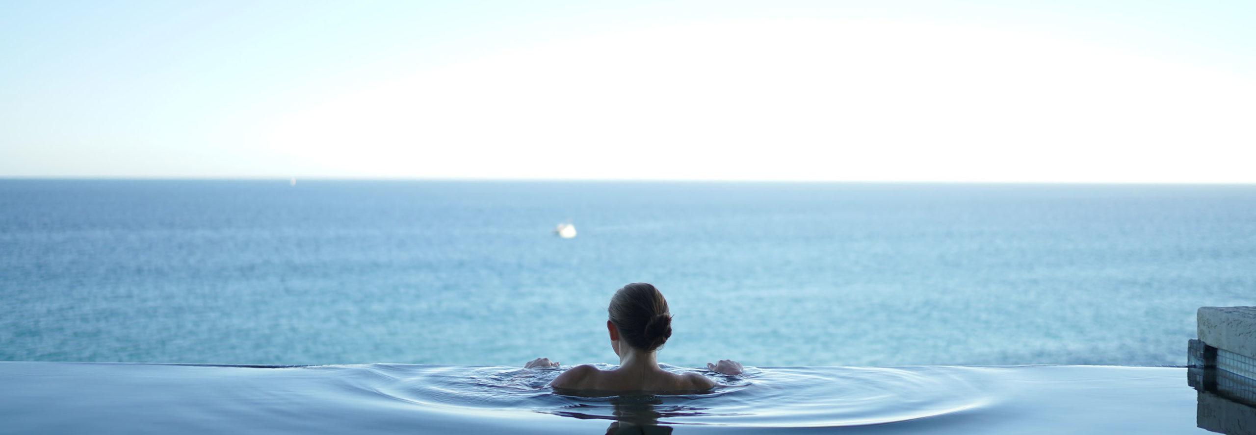 Woman enjoying a wellness retreat