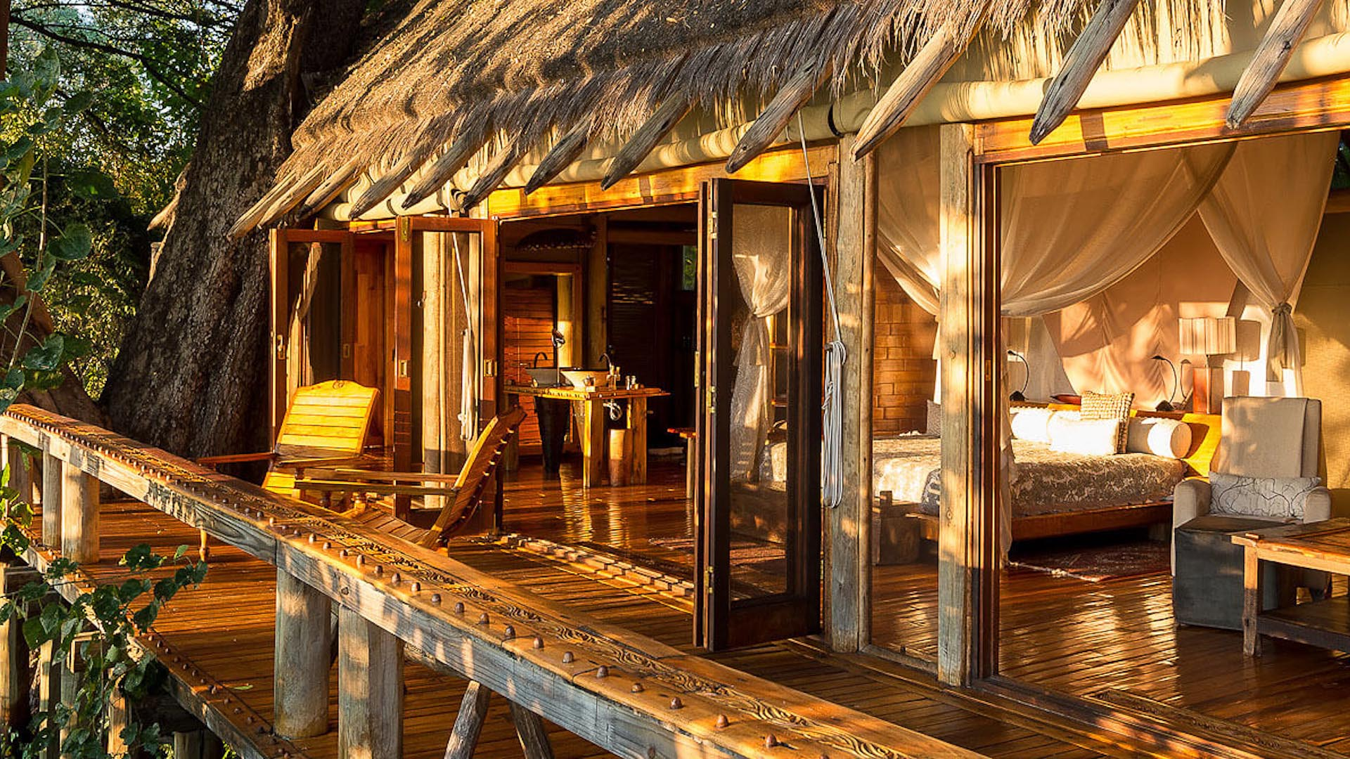The Jao Camp in the Okavango Delta
