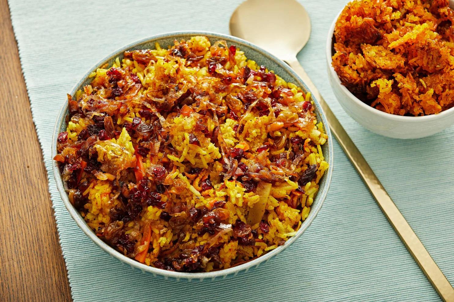 A plate of Iranian Jeweled Rice