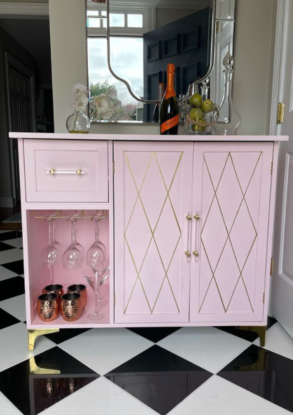 the old IKEA sideboard after the makeover