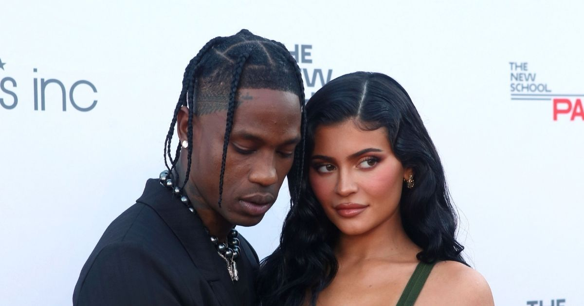 Kylie Jenner and Travis Scott attend the 72nd annual Parsons Benefit in NYC.