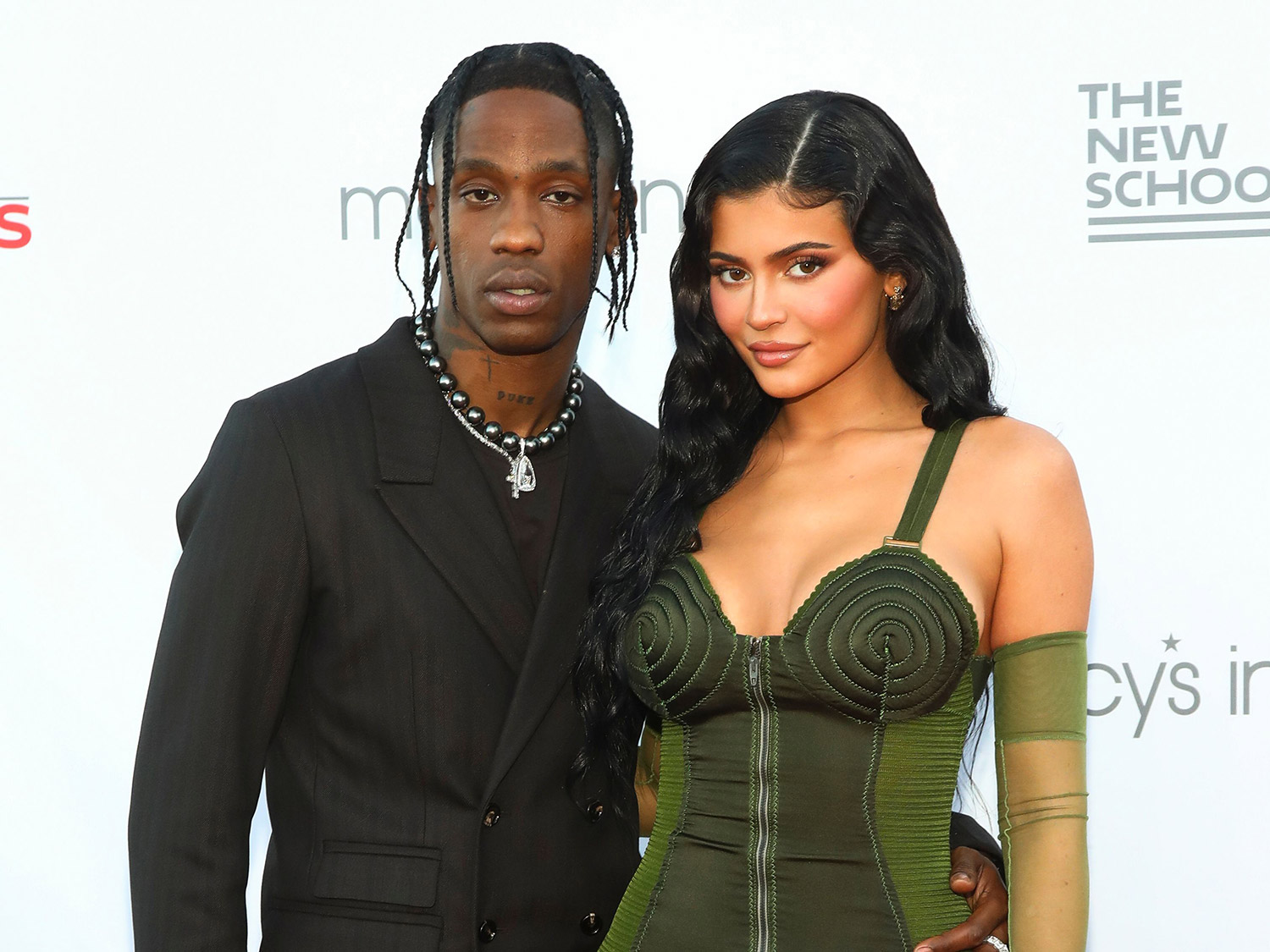 Kylie Jenner and Travis Scott at the 72nd Parsons Benefit in New York City.