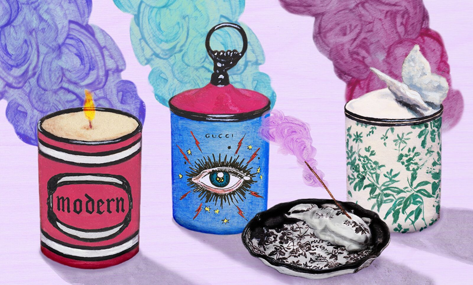 Items from the new home decor collection by Gucci