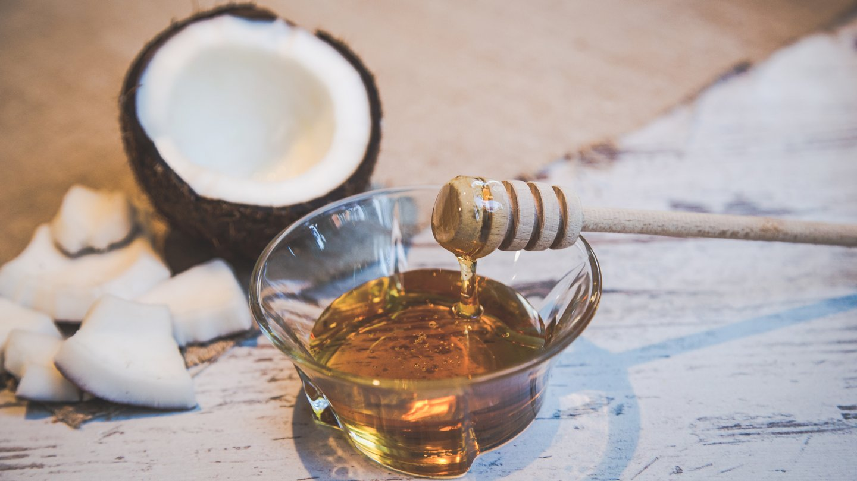 Honey-Coconut Scrub ingredients