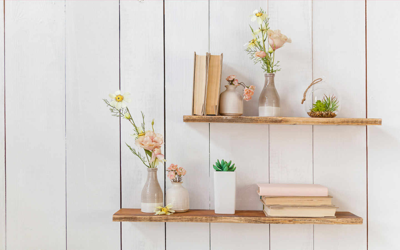 Book shelf decoration