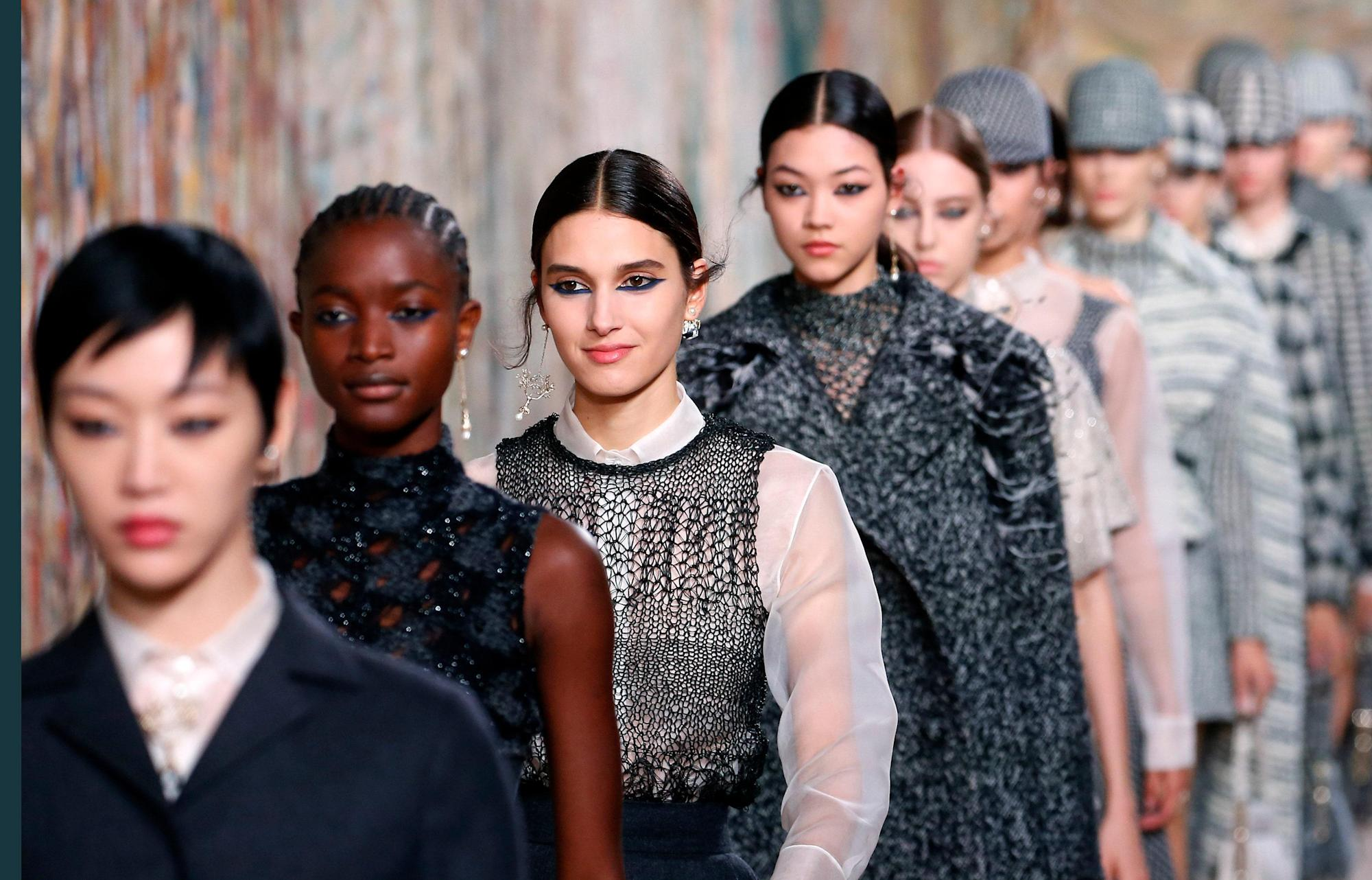 Models lineup from Couture Week Fall 2021