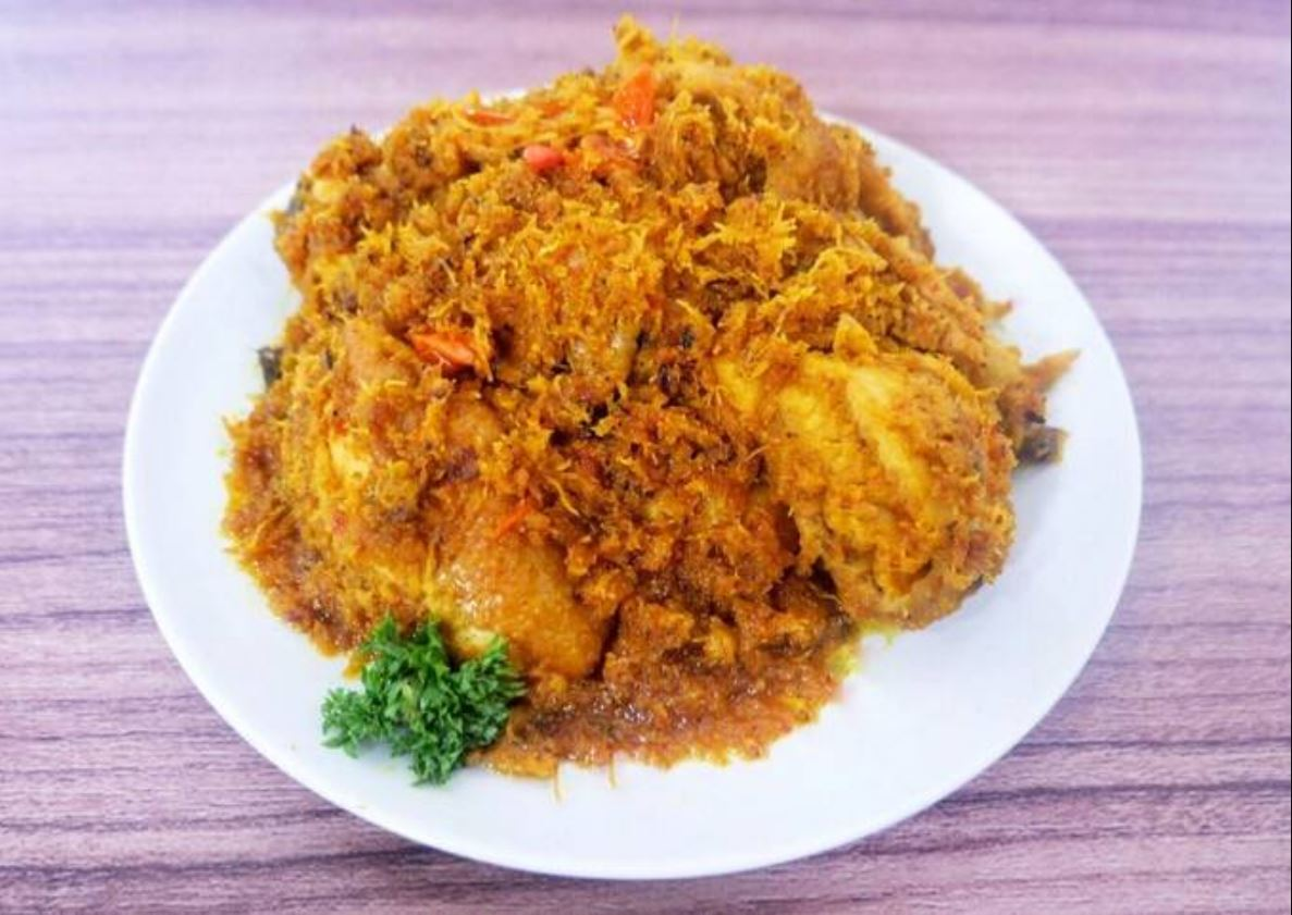 A plate of Ayam Begana