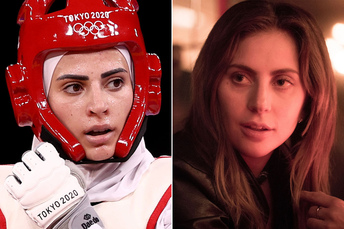 Julyana Al-Sadeq (on the left) and Lady Gaga (on the right)