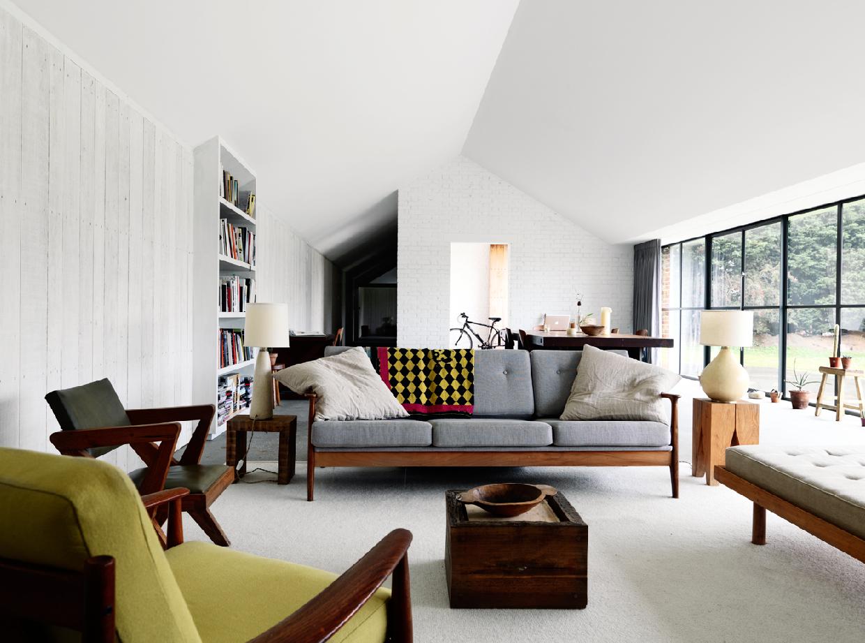 A mid-century modern interior