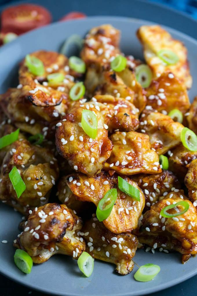 Baked Teriyaki Cauliflower Wings